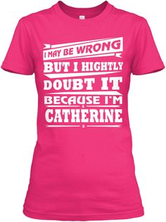Best T Shirt Name Catherine!! Heliconia Women's T-Shirt Front