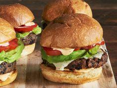 Black Bean Burgers recipe from Ree Drummond via Food Network