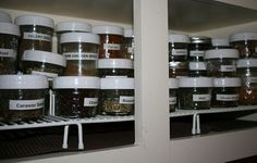 Real Food Kitchen Tour: The Promise Land Farm (blog)  Love the way she organized her spices.
