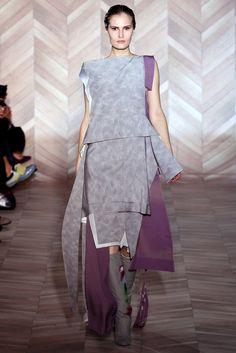 Fall 2012 Ready-to-Wear - Maison Martin Margiela. reassembled printed kimono fabric