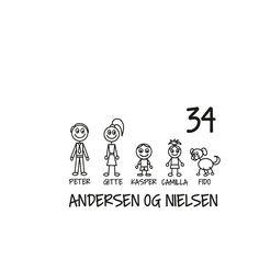 #1 Familie postkasse sticker