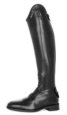 Stivale da concorso Umbria Equitazione Made in Italy con lacci e gambale ribassato