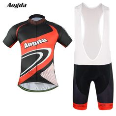 Aogda Pro mtb Clothes Men Cycling Jersey Bib shorts Sets Bike Clothing Suit Red cool Bicycle Top Bottom Ropa Ciclismo Jaket #Affiliate