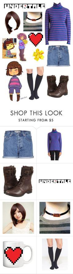 """Undertale: Frisk"" by ender1027 ❤ liked on Polyvore featuring Calvin Klein Jeans, Stella Jean, UGG Australia, Sankins, Kikkerland and Wet Seal"