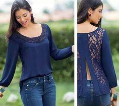 New sewing blouse mens shirt refashion Ideas Diy Fashion, Womens Fashion, Fashion Design, Fashion Tips, Sewing Blouses, Diy Vetement, Old Shirts, Shirt Refashion, Diy Clothing