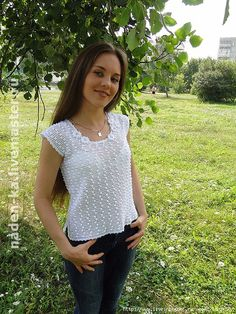 Podborochka tops, blouses and vests - all in openwork ... (crochet) - Home Moms