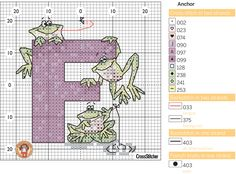 F FOR FROGS - CROSS STITCH PATTERN