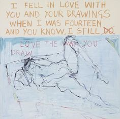 Tracey Emin - Exorcism of the Last Painting I Ever Made (detail) - Contemporary Art Women Artist, Girl Artist, Empty Canvas, Oil On Canvas, Tracey Emin Art, Beuys Joseph, Saatchi Gallery, I Love America, Artwork Online