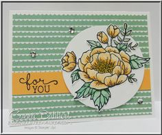 by Connie: Birthday Blooms and Birthday Bouquet dsp - all from Stampin' Up! Birthday Bouquet, Wink Of Stella, Stamping Up, Flower Cards, Cute Cards, Homemade Cards, Stampin Up Cards, Making Ideas, Cardmaking