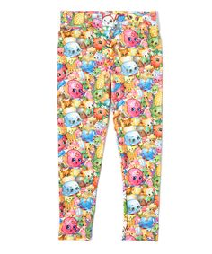 Another great find on #zulily! Multicolor Shopkins Leggings - Girls by Shopkins™ #zulilyfinds
