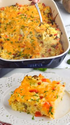 May 2019 - This easy Hash Brown Egg Casserole recipe is full of amazing flavors. It's such perfect breakfast comfort food that you will want to make for your family again and again. Healthy Breakfast Casserole, Hashbrown Breakfast Casserole, Breakfast Dishes, Breakfast Recipes, Comfort Breakfast Bake, Breakfast Casseroles With Hashbrowns, Frozen Hashbrowns, Breakfast Healthy, Breakfast Muffins