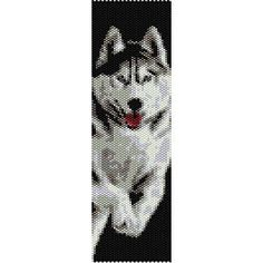 Loom Bead Patterns | SIBERIAN HUSKY - LOOM beading pattern for cuff bracelet (buy any 2 ...