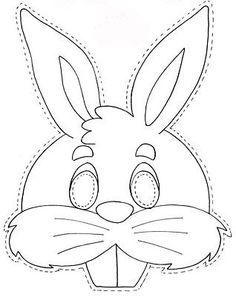Rabbit Mask - free coloring pages | Coloring Pages: