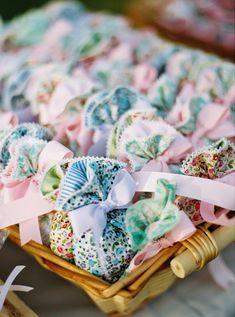 Pastel floral favors (mpomponieres) add a spring note to an elegant baptism! #eliteeventsathens #inthewoods #fairytale #story #magic #baptism #christening #eventplanning #decoration #elegance #desserts   #favors #mpomponieres #athens #greece