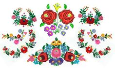 Hungarian Embroidery Patterns Kalocsa: home to the widely famous Hungarian souvenir Chain Stitch Embroidery, Learn Embroidery, Embroidery Stitches, Embroidery Patterns, Hand Embroidery, Hungarian Tattoo, Hungarian Embroidery, Stitch Head, Embroidery Techniques