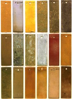 cast brass patinas - would make beautiful background / accent textures  [per previous pinner]