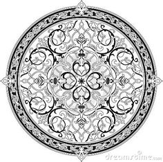 Arabic floral pattern motif, based on Ottoman ornament