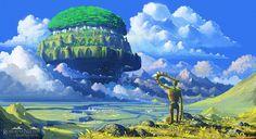 el castillo en el cielo wallpaper - Buscar con Google