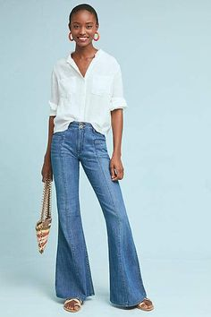 8b40dda69a7e Pilcro and the Letterpress Pilcro Ultra High-Rise Flare Jeans Flare Jeans  Outfit
