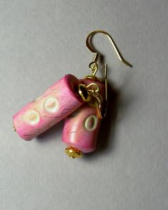 Wonky bead earrings
