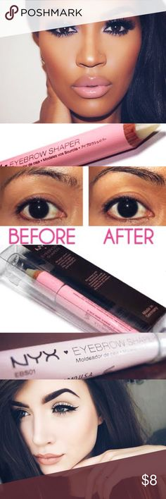 🔅NYX *Wax Brow Shaper*🔅W/GIFTS!🎁😍💕 🔅BRAND NEW & UNOPENED🔅NYXs EYEBROW SHAPER🔅DEFINE & CONQUER BEAUTIFUL SHARP EYEBROWS🔅Tame unruly eyebrows w/ this ingenious wax pencil! The blend of waxes is enriched with Vitamen E and leaves arches in tip top condition & impeccable shape w/ just a few strokes!🔅INCLUDES SUPER CUTE FREE GIFTS🔅BUNDLE ONLY 3 ITEMS FOR AN ADDITIONAL 15% OFF🔅FREE NYX PRODUCT WHEN U PURCHASE 3 OR MORE ITEMS!!🔅EXPEDITED SHIPPING🔅ASK ME FOR SOLD…