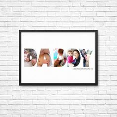 PERSONALIZED Gift for Him/ Daddy/ Dad – Custom/ Photo Art Printable. Grandad, Grampa, Fathers day gift, Birthday and Christmas present - Geschenkartikel Diy Father's Day Gifts, Diy Gifts For Kids, Gifts For Dad, Fathers Day Gifts, Diy Birthday Presents, Mother Birthday Gifts, Papa Tag, Christmas Presents, Christmas Diy