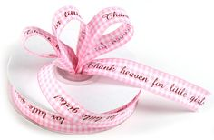 Thank Heaven for Little Girls Pink Gingham Ribbon - 25 yard Baby Q Shower, Baby Shower Supplies, Baby Shower Themes, Baby Shower Decorations, Shower Ideas, Pink Gingham, Fabric Ribbon, Red Hoodie, Elite Socks