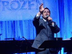 Josh Gad sings along with the cast of FROZEN to celebrate the Oscar-nominated soundtrack at Vibrato Jazz Club