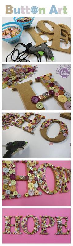 Ideas creativas para hacer manualidades maravillosas utilizando botones. Queda tan bonitas y originales que las puedes utilizar para regalar, y tan fáciles que hasta los niños las pueden hacer.