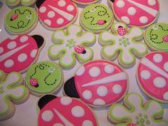 pink ladybug cookies