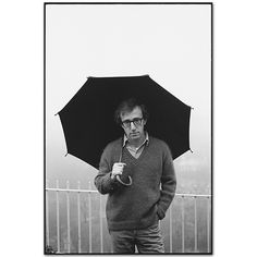 Woody Allen on his balcony,  Manhattan,  1979, photographer Mary Ellen Mark