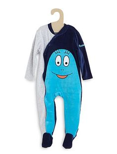 Pyjama velours 'Barbapapa' bleu Bébé garçon - Kiabi