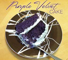 Recipe: Purple Velvet Cake. I'm sure it's full of nasty food coloring but it's beautiful.