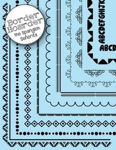 FREE(10) 8.5x11 Full Page Borders (6) 8.5 Header / Footer Borders  All files are in PNG formats for easy use in documents, and appear with no white backdrop.  The Spanglish Señorita Clipart is created by Melissa Deible. All free and paid graphics may be used for personal and commercial use.