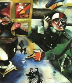 Marc Chagall. 'The Soldier Drinks' 1911