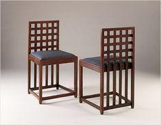 Mackintosh Chair, Mackintosh Furniture, Vintage Furniture Design, Furniture Styles, Charles Rennie Mackintosh Designs, Charles Mackintosh, Arts And Crafts Furniture, Blue Bedroom, Interiores Design