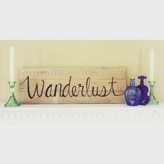 Vintage hand painted home decor selling on etsy