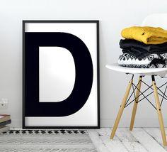 Letter D | ► Letters & Symbolen | Postersinhuis.nl