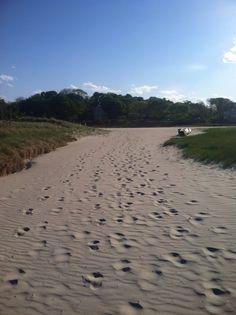 Good harbor beach, Gloucester. #footprintsinthesand