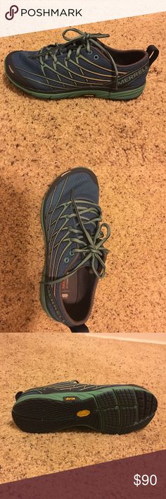 Merrill shoes Brand new Merrel shoes. Size 6. I wore them for half a day and didn't like how they fit my foot. They are really great shoes I just have a funky arch. Merrell Shoes Athletic Shoes