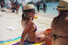 August Monday is a yearly beach party that takes place in Road Bay,