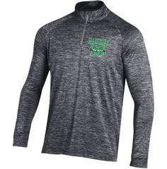 Under Armour Men's Marshall Thundering Herd Heathered Grey Tech Quarter-Zip Performance Pullover Shirt - Dick's Sporting Goods