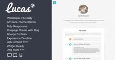 Lucas - Personal Minimalist Wordpress Blog Theme Template Download