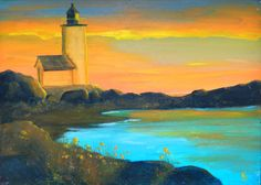 Lighthouses Paintings of lighthouses by KentJacobsonArtist on Etsy