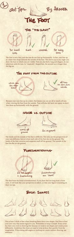 Tips for drawing feet. (bc they never look right...)