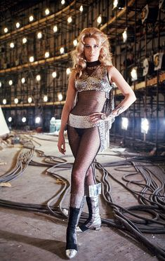 Jane Fonda on the set of Barbarella, 1967 Jane Fonda Barbarella, Barbarella Movie, Science Fiction, Fritz Lang, Space Girl, Space Age, Actrices Hollywood, Iconic Women, Classic Hollywood
