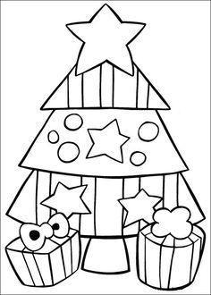 coloring page Christmas (and more) - Christmas tree