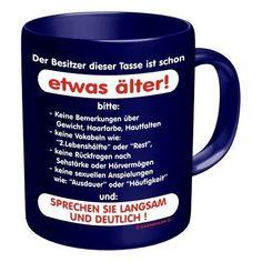 Fun Tasse Sprüche Tasse - Der Besitzer ist etwas älter - http://www.1pic4u.com/blog/2014/05/30/fun-tasse-sprueche-tasse-der-besitzer-ist-etwas-aelter/