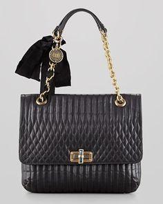 Happy Shoulder Bag, Medium by Lanvin - black/gris perle/green $2,390