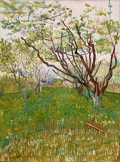 """wetreesinart: """" Vincent van Gogh (Pays-B. 1853-1890), Le Verger en fleur, 1888, huile sur toile, 72,4 x 53,3 cm, New York, Metropolitan Museum of Art """""""